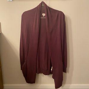 Aritzia Wilfred Long Sweater Cardigan